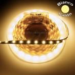 Striscia LED 5 Metri Colore Bianco Caldo 12VDC 14,4W/m IP65 Parylene