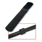 Fascette Ferma Cavi in Nylon e Velcro, 10pz, colore Nero