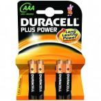 Pila DURACELL PLUS POWER Ministilo AAA - Confezione 4 pezzi