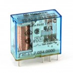 Finder 40.61.7.024.0000 Relè Elettromeccanico Bobina Sensibile 24 VDC