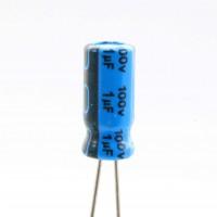 Condensatore Elettrolitico 1uF 100 Volt 85°C Jianghai 5x11