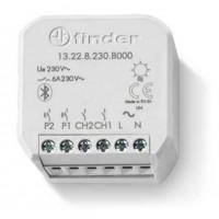 Finder 13.22.8.230.B000 YESLY Relè Bluetooth Multifiunzione a 2 Canali da Incasso
