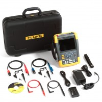 Kit FLUKE Scopemeter 190-102/S Oscilloscopio 2 Canali 100 MHz con Borsa Rigida e Software FlukeView