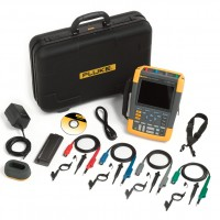 Kit FLUKE Scopemeter 190-204/S Oscilloscopio 4 Canali 200 MHz con Borsa Rigida e Software FlukeView