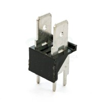 Stelvio CQS/B2/6.3 Connettore a Faston 2 poli da PCB passo 7,62 mm