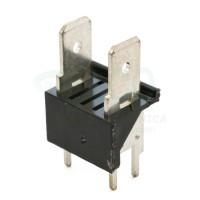 Stelvio CQS/C2/6.3 Connettore a Faston 2 poli da PCB passo 10,16 mm