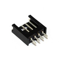 280371-1 AMPMODU MOD II Connettore da PCB 4 poli passo 2,54 mm diritto