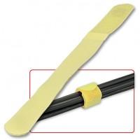 Fascette Ferma Cavi in Nylon e Velcro, 10pz, colore Giallo