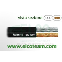 Piattina audio nera 2x1 mm Tasker TSK1008