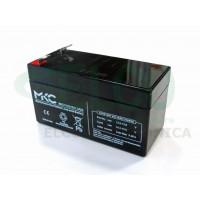 Batteria ermetica al piombo 12V 1,2 Ah MKC