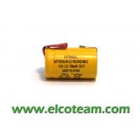 Batteria 2/3 AF 700mAh Ni-Cd lamella a saldare