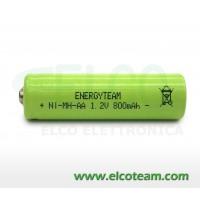 Batteria stilo AA 800 mAh Ni-Mh bottone EnergyTeam