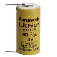 Panasonic BR-2/3A Batteria al Litio 3 Volt con terminali da PCB