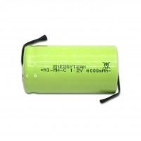 Batteria mezza torcia C 4Ah Ni-Mh Energyteam lamelle a saldare