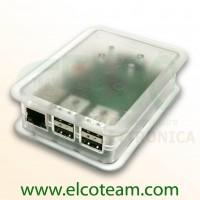 TEK-BERRY+ Case per Raspberry Pi model B+ colore trasparente