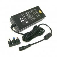 Alimentatore tensione fissa 12VDC 5A 60W con 3 plug intercambiabili