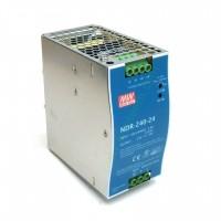 Alimentatore Mean Well NDR-240-24 per guida DIN 240W 24V