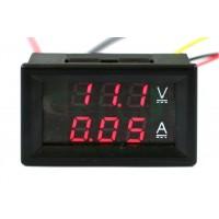 Strumento Doppio Display Voltmetro 0-30V Amperometro 0-5A