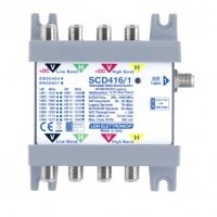 LEM Elettronica SCD416/1 Multiswitch Ibrido Passante 4 Ingressi VH / Wide Band e 1 uscita dCSS/SCR Omologato SKY