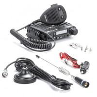 Alan CB-GO Kit Radio CB Veicolare con Antenna, Base Magnetica e Cavo di Aimentazione