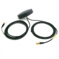 Antenna Piatta Tonda Combinata GSM e GPS da esterno IP67