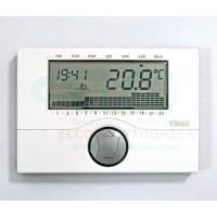 Cronotermostato Digitale Settimanale Vimar 01910 Bianco
