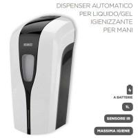 Dispenser Automatico per Liquidi/GEL Sanificanti/Disinfettanti a Batteria
