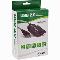 Adattatore da IDE / SATA a USB 2.0 con alimentatore InLIne 76670I