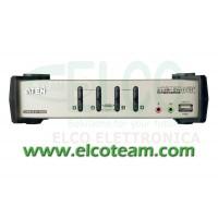 KVM switch 4 porte con hub USB Aten CS1734B