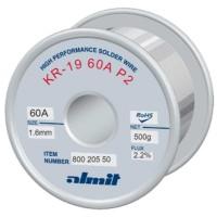 Almit 80020550 Lega di Stagno in Filo 60/40 con Piombo Flussante ROM1 diametro 1,6mm 500 grammi