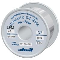 Almit 80150450 Lega di Stagno in Filo SAC305 GUMMIX Flux REL1 diametro 0,65mm 500 grammi