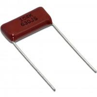 Condensatore Poliestere 100nF 630V passo 22,5mm terminali lunghi