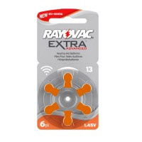 Batteria Rayovac DA13 per apparecchi acustici, Blister 6 pezzi