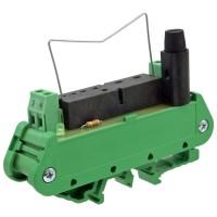 ELCO IF-1 Modulo Zoccolo per Relè Statico da PCB con Supporto Barra DIN-Rail