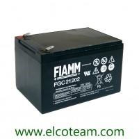 Fiamm FGC21202 Batteria al piombo uso ciclico 12V 12Ah