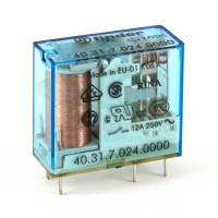 Finder 40.31.7.024.0000 Relè Elettromeccanico Bobina Sensibile 24 VDC