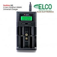 Caricabatterie universale Soshine H2 per batterie  Li-ion, LiFePO4 e NiMH