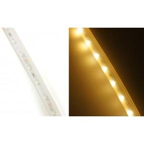 Striscia LED Neon 5 Metri Colore Bianco Caldo 12 VDC IP65 4,8W/m