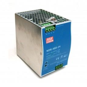 Alimentatore Mean Well NDR-480-24 per guida DIN 480W 24V
