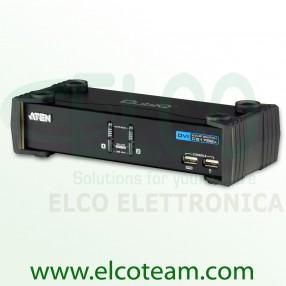 Aten CS1762A Switch KVM DVI a 2 porte con audio e hub USB 2.0