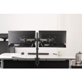 Supporto da scrivania per doppio monitor NewStar NM-D135DBLACK