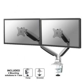 Supporto da scrivania per doppio monitor NewStar NM-D750DSILVER
