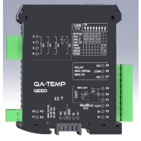 Convertitore di Temperatura Universale per Termocoppie e Termoresistenze Qeed QA-TEMP