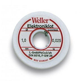 Lega Saldante in Filo Weller L60/40-25 1mm - 25 grammi