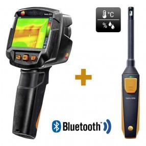 Testo 872 Termocamera 320x240 con Super Risoluzione e Termoigrometro i605 - Kit Rilevazione Muffa - 0560 8724