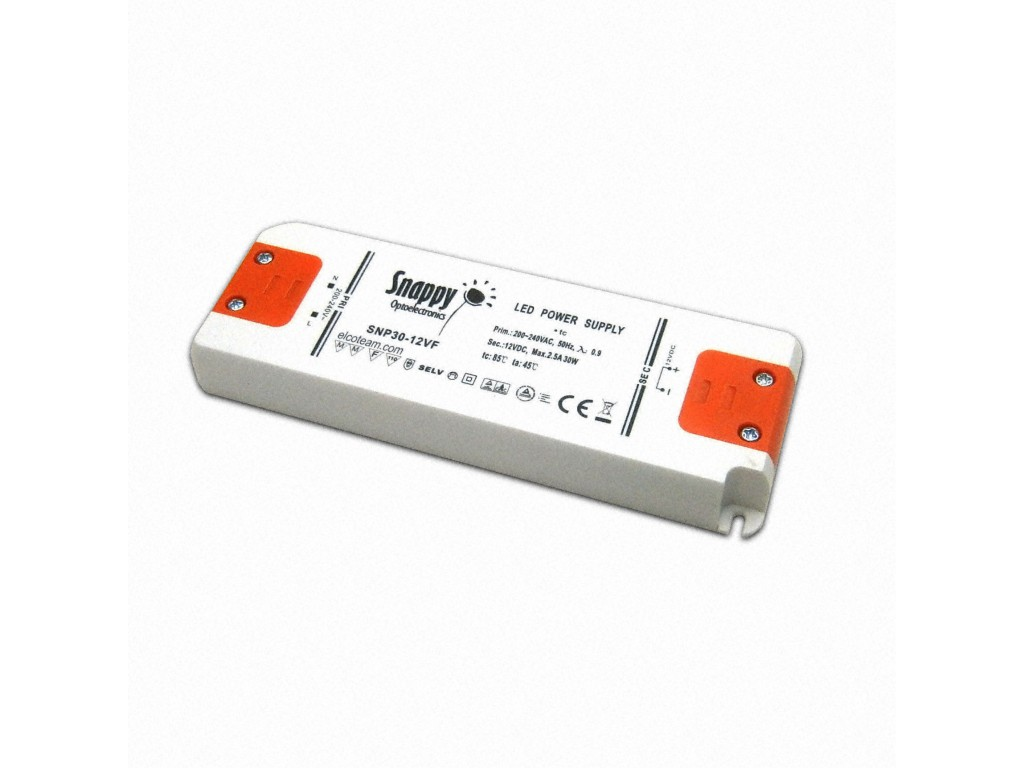 snappy snp30-12vf-3 power supply 12vdc 30w 2.5a low profile