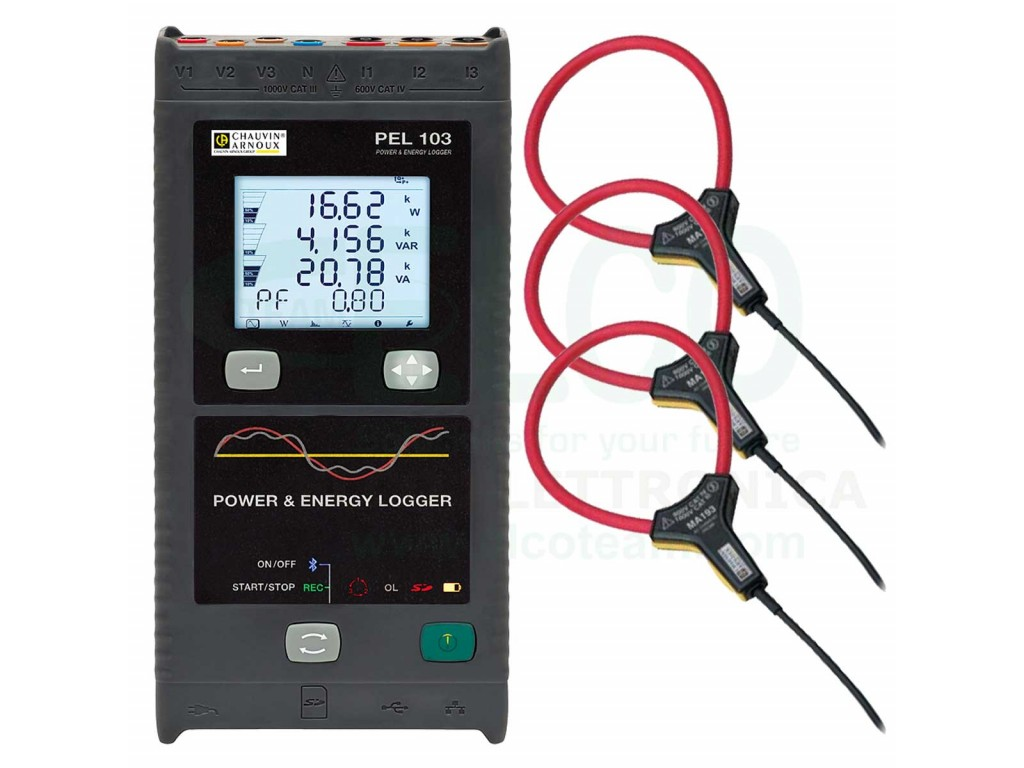 Chauvin Arnoux PEL103 Power and Power Data Logger with MiniFLEX MA193 to  Network Adapter 11-0000-417