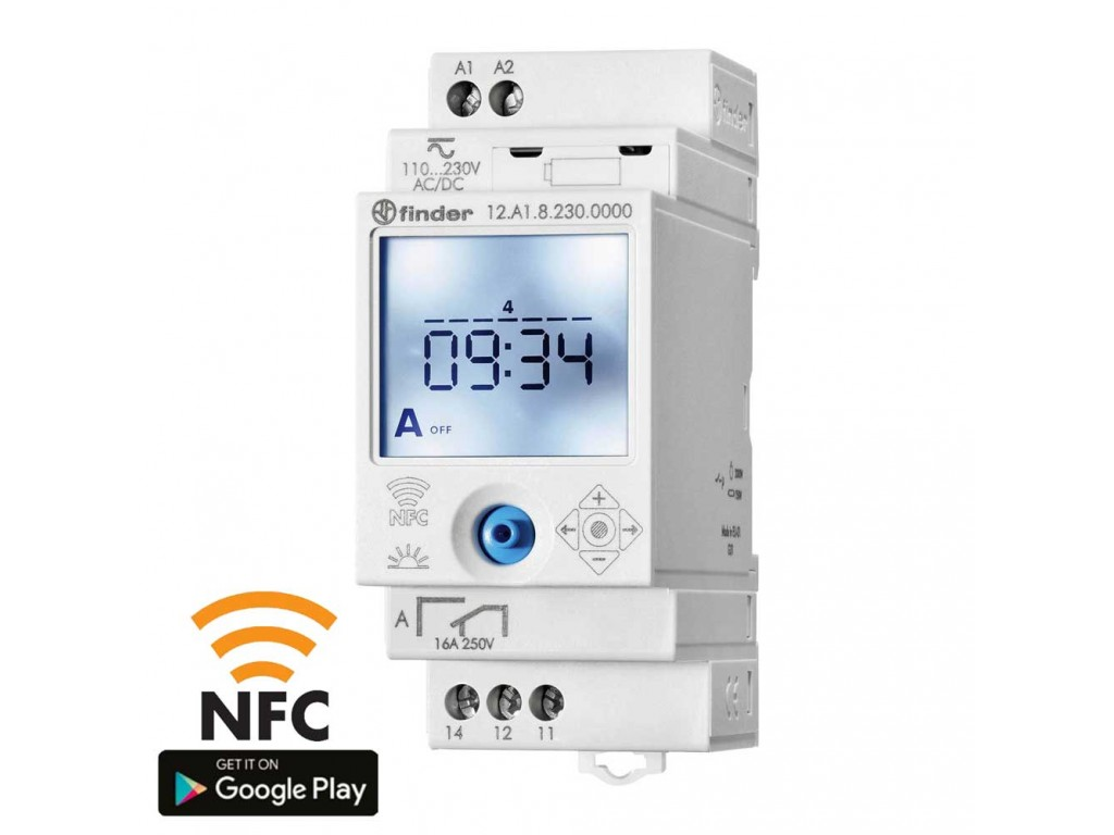 Finder 12 81 8 230 0000 NFC programmable astronomical time switch