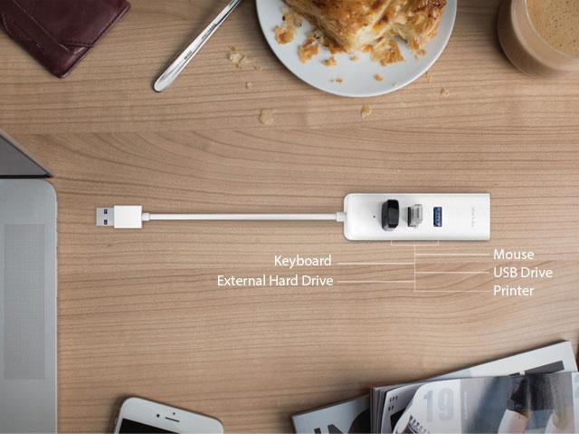 UE330 - Hub USB 3.0 + adattatore Gigabit Ethernet