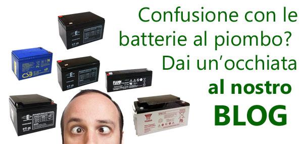 Leggi l'articolo del nostro blog che spiega come usare e mantenere le batterie al piombo